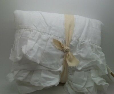 "Pottery Barn Baby Kids Ruffle Crib Bed Skirt White One Size 15"" Drop #49"