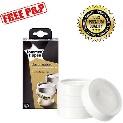 Tommee Tippee Milk Storage Lids x 4 FREE & FAST DELIVERY!!!