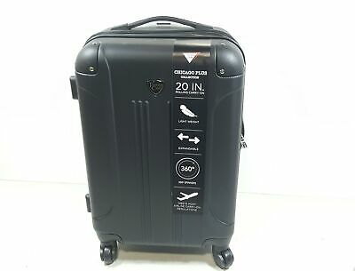 """Travelers Club Luggage Chicago 20"""" Hardside Expandable Carry-on Spinner, Black"""
