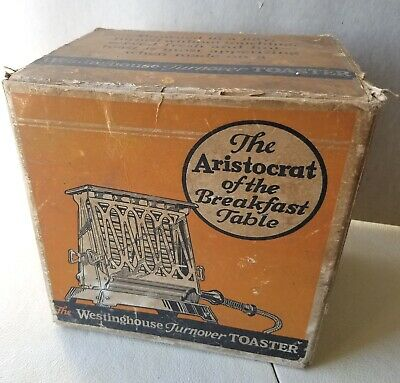 Antique 1920s Cardboard Box ONLY for The Westinghouse Turnover Toaster