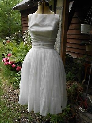 Vintage late 1950's early 60's Cocktail Prom DRESS Jkt great for Bride 32-22-60