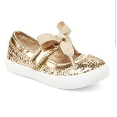 super cute shop release info on GIRLS TODDLER CARTER'S SHINE2 Gold Glitter Dress Shoes Mary Jane ...
