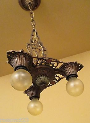 Vintage Lighting 1930s foyer, bedroom chandelier by Virden