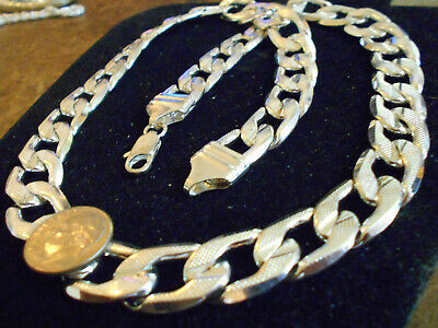 bling silver plated rapper rap 14mm cuban chain fashion necklace jewelry hip hop
