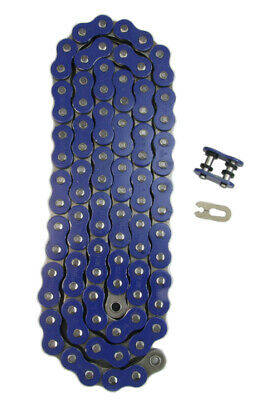 Blue 530x118 X-Ring Drive Chain Motorcycle 530 Pitch 118 Links 8200# Tensile