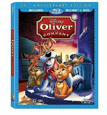 Disney's Oliver and Company 25th Anniv. Bluray DVD Combo NEW!  USA RELEASE!