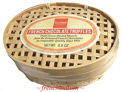 3 Guyaux Authentic FRENCH DARK CHOCOLATE TRUFFLES Gourmet Gift Basket Spring New