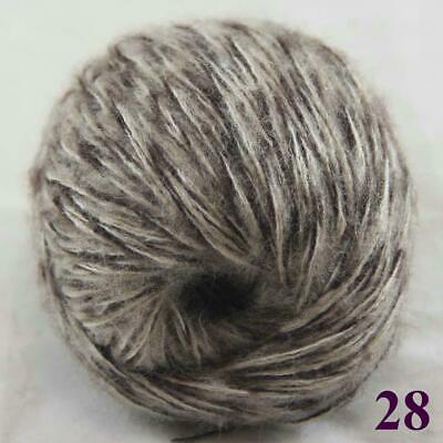 Sale New 1ballX50gr Fluffy Soft Mohair Lace Crochet Shawl Hand Knitting Yarn 28