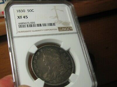 1830 Capped Bust Half Dollar  Ngc Xf-45   Very Nice For The Grade   Smooth
