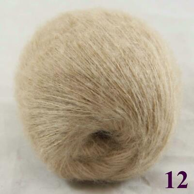 Sale New 1ballX50gr Fluffy Soft Mohair Lace Crochet Shawl Hand Knitting Yarn 12