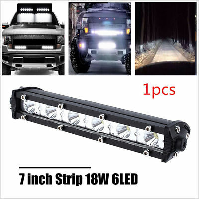 "7"" Cube 18W One Row Led Light Bar Modified off-road roof ATV FOG TRUCK 3000LM"