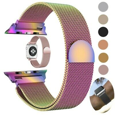 44mm Stainless Steel Magnetic Loop iWatch Band Strap for Apple Watch Series 4