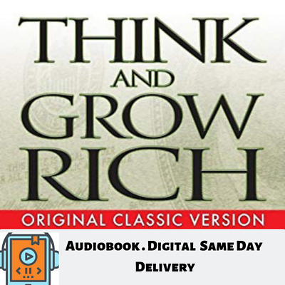 AudioBook Think and Grow Rich by Napoleon Hill MP3 Audiobook Digital Delivery