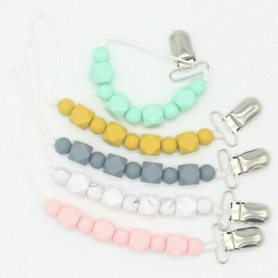 Baby Pacifier Clips Pacifier Teething Chain Clip Bead Dummy Holders Excellent