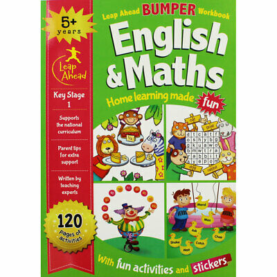 Leap Ahead - English and Maths - 5 Plus Years KS1, Children's Books, Brand New