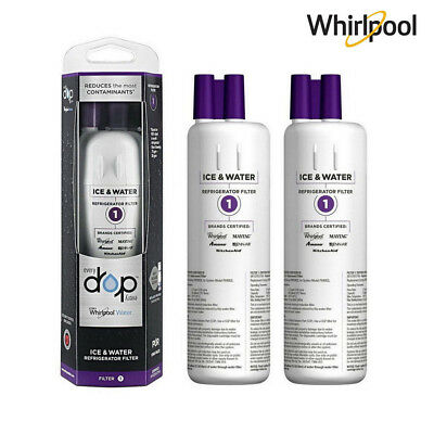 2X Every Drop1 Whirlpool W10295370A EDR1RXD1 FILTER1 Water Certified 200 Gallons