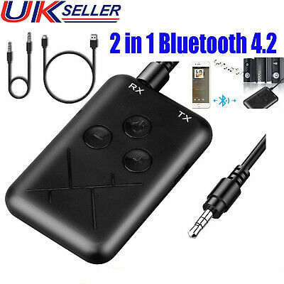 Wireless Bluetooth 4.2 Transmitter Receiver Stereo Audio USB Adapter RCA AUX Hot