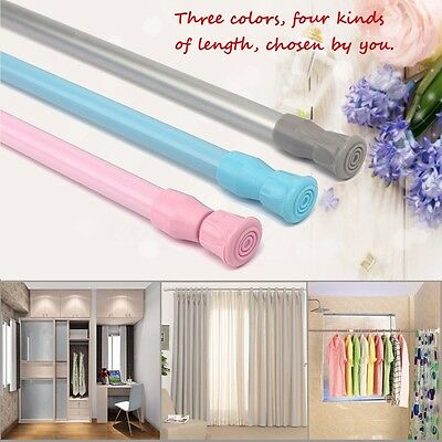 Spring Loaded Extendable Telescopic Voile Net Curtain Tension Pole Rail Rod 2019
