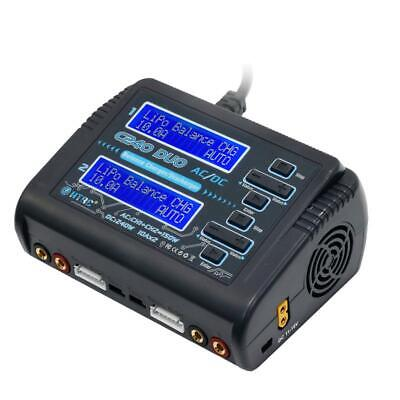 HTRC C240 DUO AC 150W DC 240W Dual 10A RC Balanced Li-Ion Battery Charger