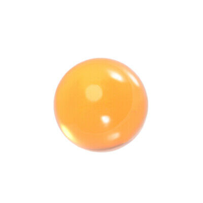 30mm Diameter Acrylic Ball Orange Sphere Ornament 1.2 Inches