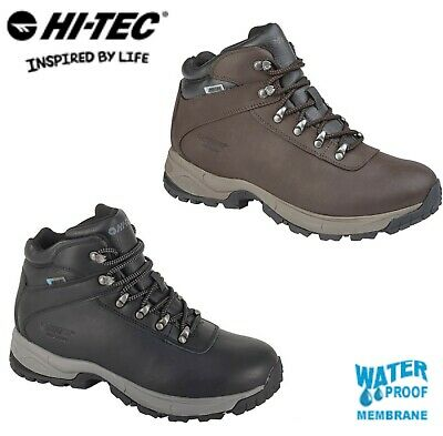 HI-TEC EUROTREK Mens Waterproof Brown Hiking Boots  Size 7 8 9 10 11 12 13 14 15