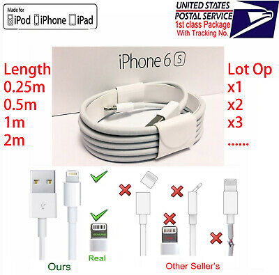 OEM Original Lightning to USB Charging Cable for Apple iPhone5 6 7 8 X XS XR Lot