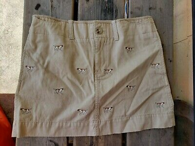 Ralph Lauren Beige With Dogs Skirt Girls/Kids Size 14