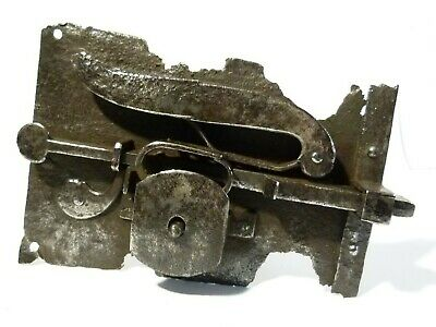 Antique 18-19thC Large Door Lock and Key Working Condition Cleaned  A/F
