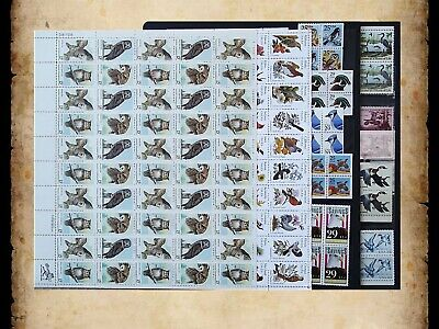 US Postage Stamps Face Value $42 + Unused Lot #89 Sheets Blocks Birds