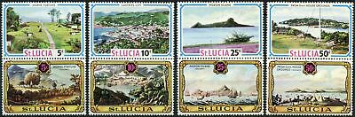 St. Lucia 1971 SG#311-318 Old And New Views MH Set #D86360