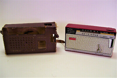 Vintage Channel Master Six Transistor KC Long Wave BC LW and Leather Case AS IS