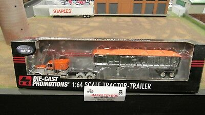 DCP#30464 TERESI TRUCKING PETE 379 SEMI TRUCK COIL LOAD FLATBED