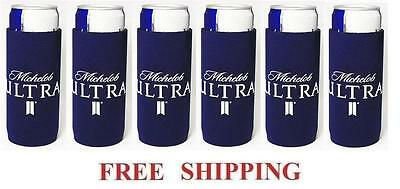 Michelob Ultra 6 Slim Can Cooler Coozie Coolie Koozie Huggie New Bud