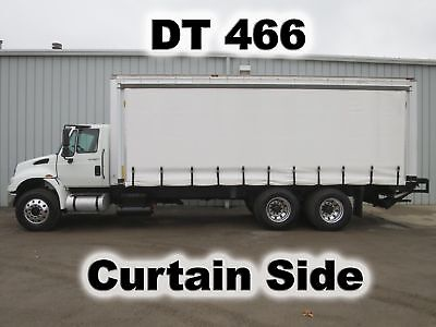 4400 Dt466 24Ft Curtain Soft Side Delivery Haul Box Cube Van Tandem Axle Truck