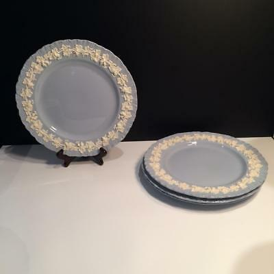Set Of 4 Wedgwood Cream On Lavender Shell Edge Dinner Plates Ch4870