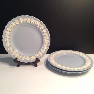 Set Of 4 Wedgwood Cream On Lavender Shell Edge Salad Plates Ch4872