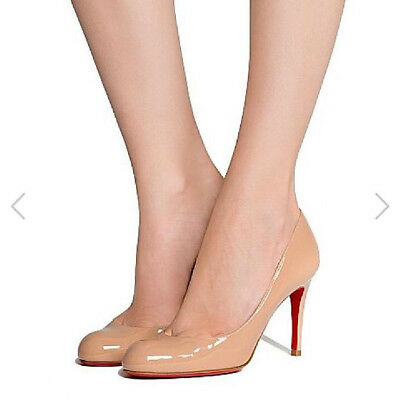 7e067f4ed8a EXQUISITE CHRISTIAN LOUBOUTIN Miss Gena 85 Patent Calf Heels Pump 40/ US 9  NEW