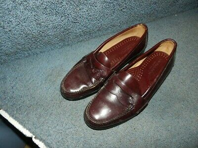 7536bb48fb4 Vtg GH Bass   Co Weejuns Men s 9.5 D Classic Burgundy Leather Penny Loafers