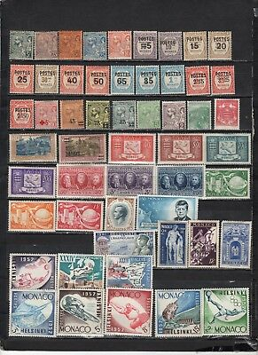 Monaco - Lot Of Early MH/OG Stamps (MON2)