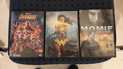 Dvd Avengers: Infinity War + Wonder Woman + Momie