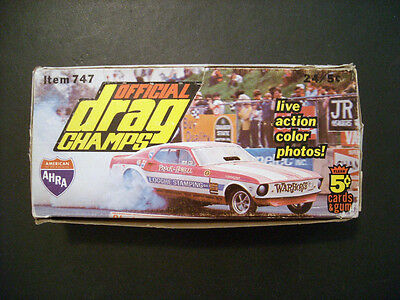 1971 Ahra Official Drag Champs Card Display Box  Fleer