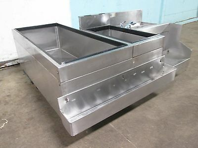 """GLAS TENDER"" BARTENDER STATION w/8 LINES COLD PLATE ICE BIN, SPEED RAIL & SINK"