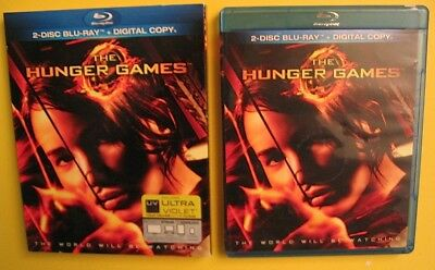 The Hunger Games 2-Disc Blu-ray w/Slipcase Jennifer Lawrence Many Bonus Features