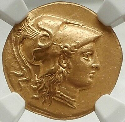 ALEXANDER III the GREAT Ancient 323BC Gold Greek Stater Coin NGC Certified MS