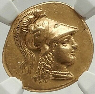 ALEXANDER III the GREAT Ancient LIFETIME 332BC Gold Greek Stater Coin NGC Ch AU