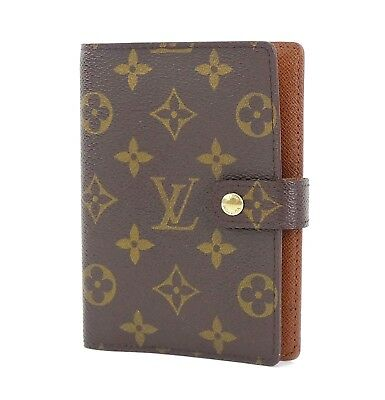 Authentic LOUIS VUITTON Monogram 6 Ring Agenda Address Book Cover #29425A
