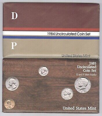 Lot of 2 (TWO) U.S. Mint Uncirculated Coin Sets + 1984 and 1985!