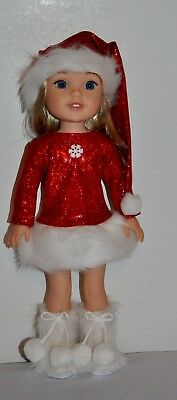 American Madedoll Clothes For Wellie Wishers 14.5 Inch Dolls  Lot- Christmas Set