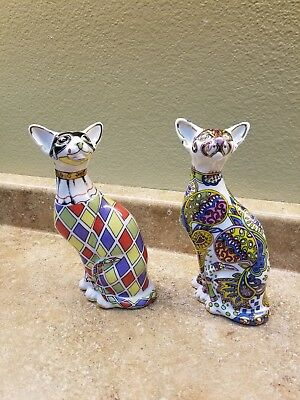Paul Cardew Designs Cool Cats English Ceramic Set Of Two