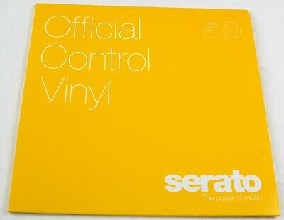 SERATO 12 Inch Control Vinyl - Performance OFFICIAL Jacket (Pair) Yellow #R697